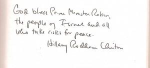 Hillary writing