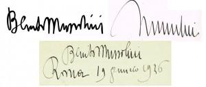 Mussolini Signature x3